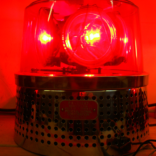 Antique Red Alarm Light